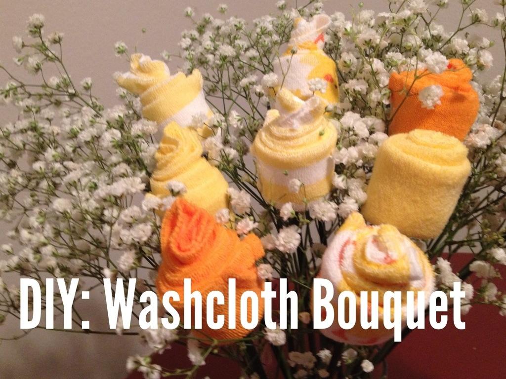 Diy Baby Washcloth Bouquet Ballin On A Budget Blog